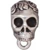 Bail Skull Antique Silver